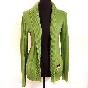 Hollister size medium green cardigan